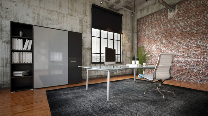 Décoration industrielle pour les bureaux en entreprise
