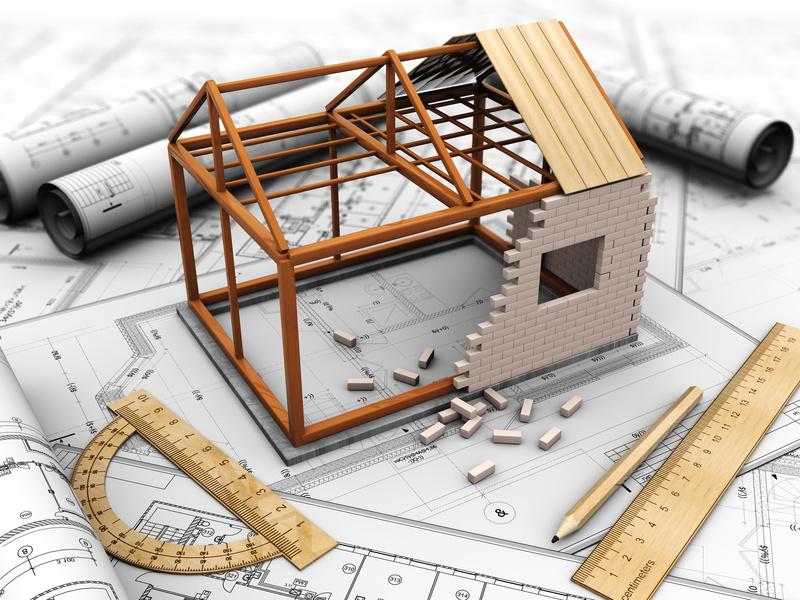 dessin maison en travaux