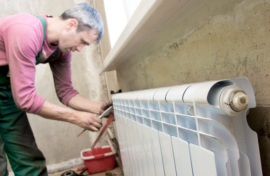 Installation d'un radiateur