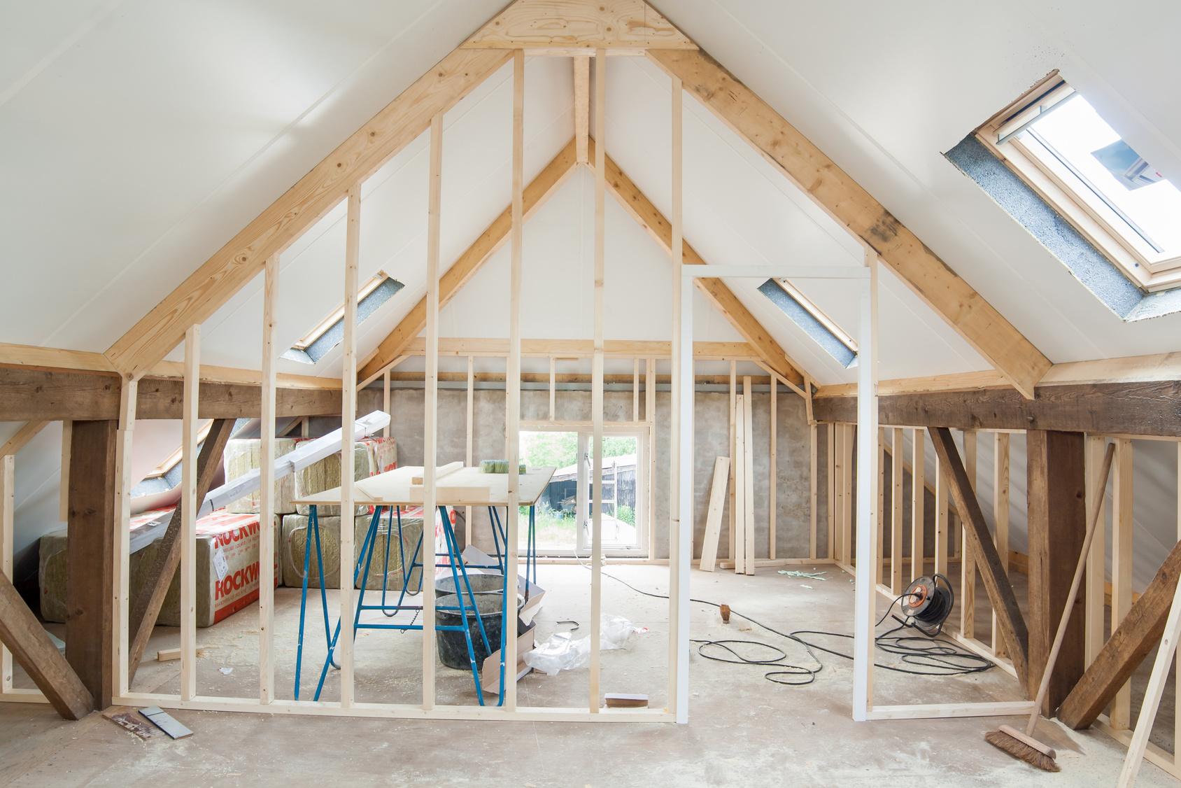 maison en pleine rénovation